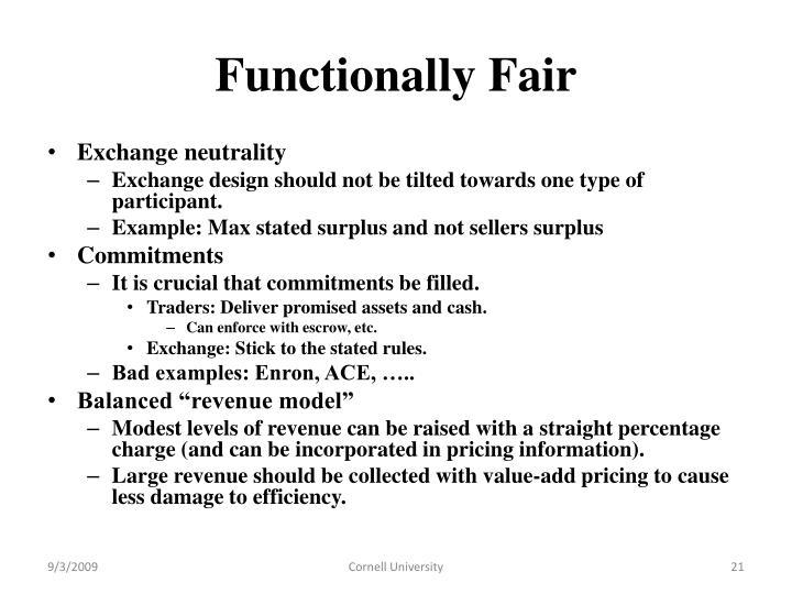 Functionally Fair