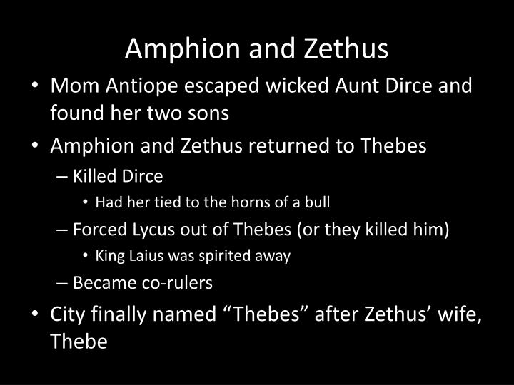 Amphion and Zethus