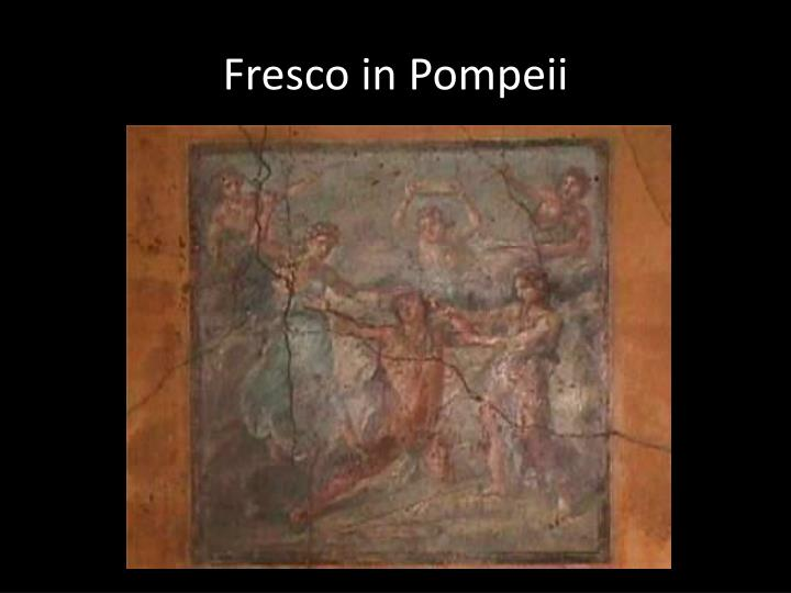 Fresco in Pompeii