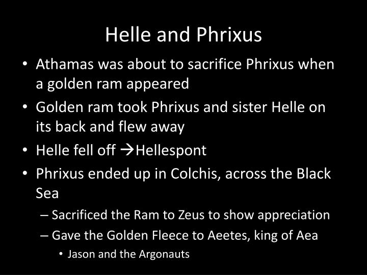 Helle and Phrixus