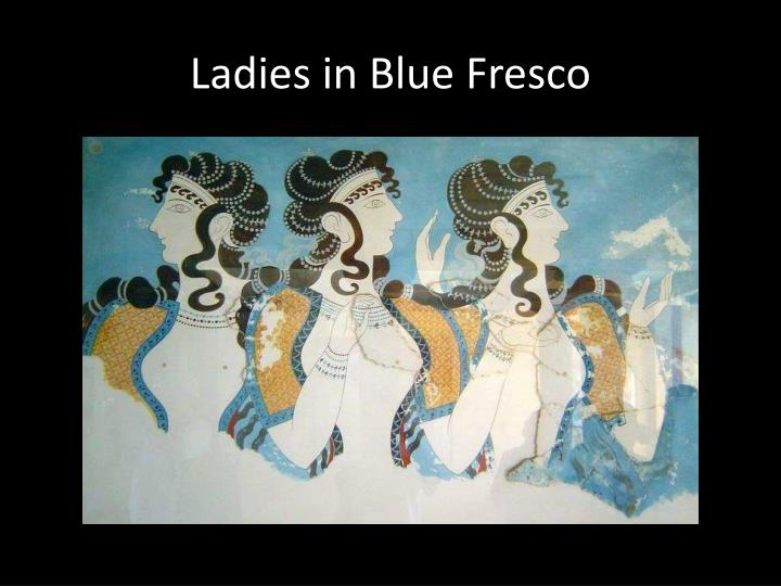 Ladies in Blue Fresco