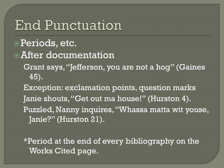 End Punctuation