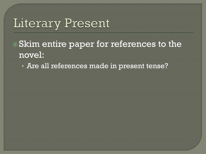Literary Present