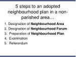 5 steps to an adopted neighbourhood plan in a non parished area