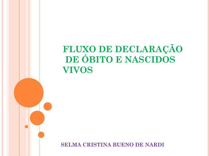 FLUXO DE DECLARAÇÃO
