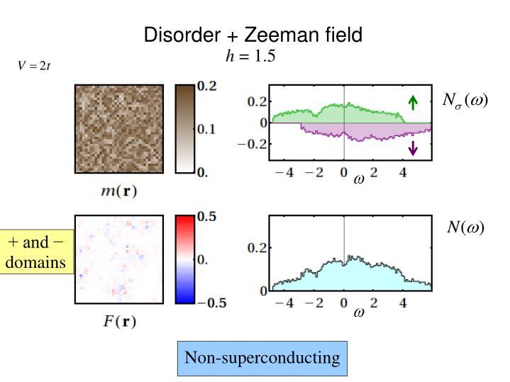 Disorder + Zeeman field