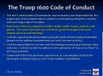 the troop 1600 code of conduct1