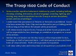 the troop 1600 code of conduct2