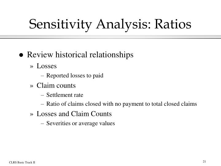 Sensitivity Analysis: Ratios