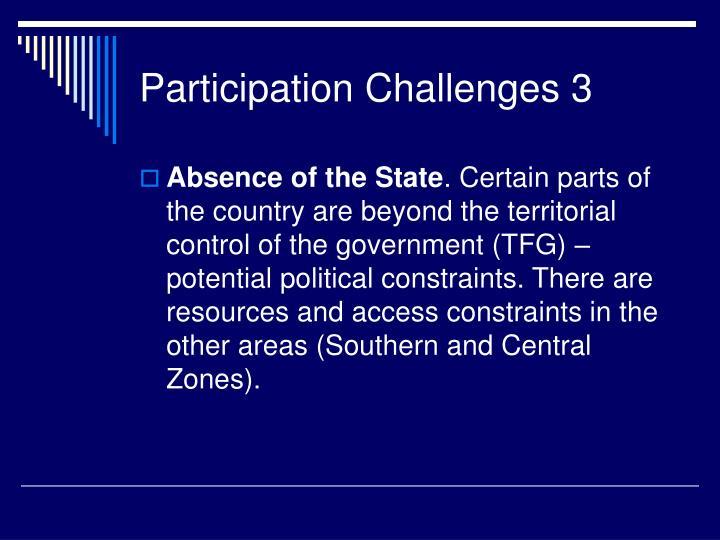 Participation Challenges 3