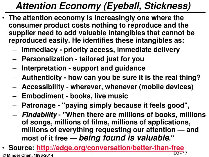 Attention Economy (Eyeball, Stickness)