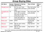 group buying sites