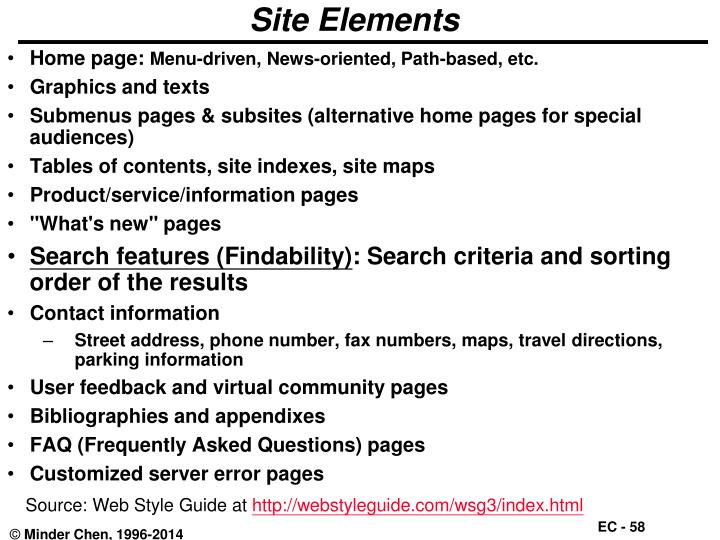 Site Elements