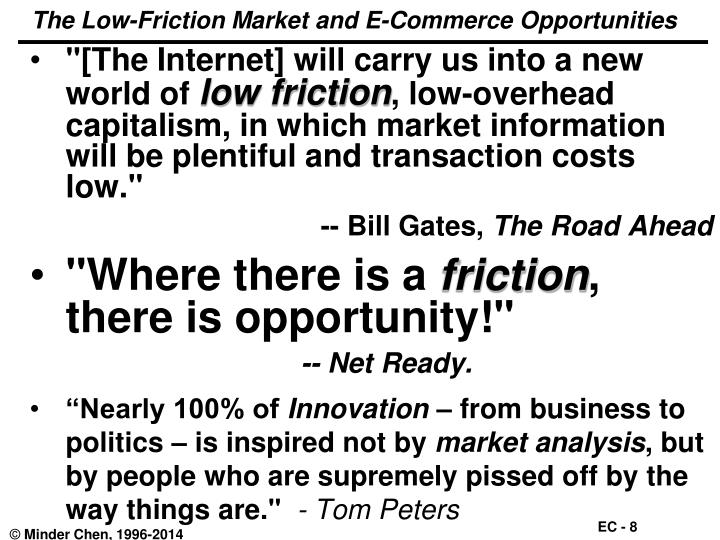 The Low-Friction Market and E-Commerce Opportunities