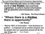 the low friction market and e commerce opportunities