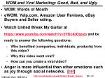 wom and viral marketing good bad and ugly