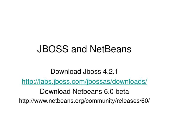 JBOSS and NetBeans
