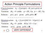 action principle formulations