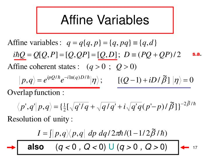 Affine Variables