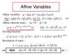 affine variables