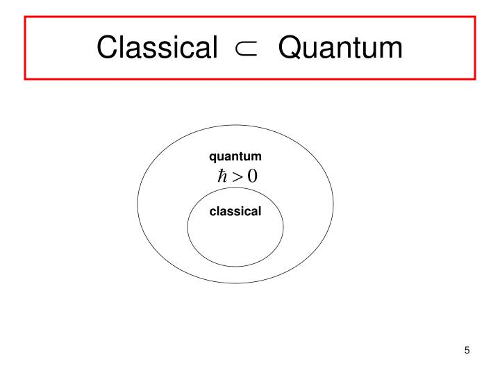 Classical       Quantum