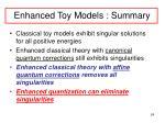 enhanced toy models summary