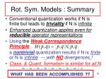 rot sym models summary