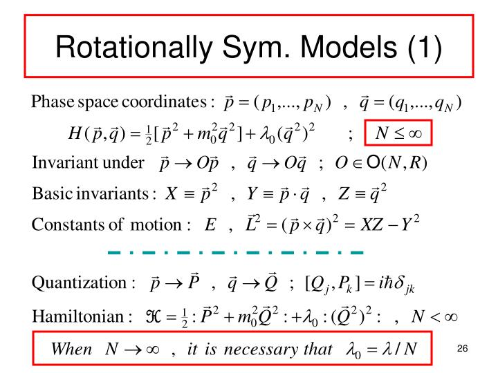 Rotationally Sym. Models (1)