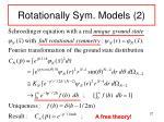 rotationally sym models 2