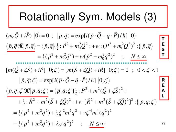 Rotationally Sym. Models (3)