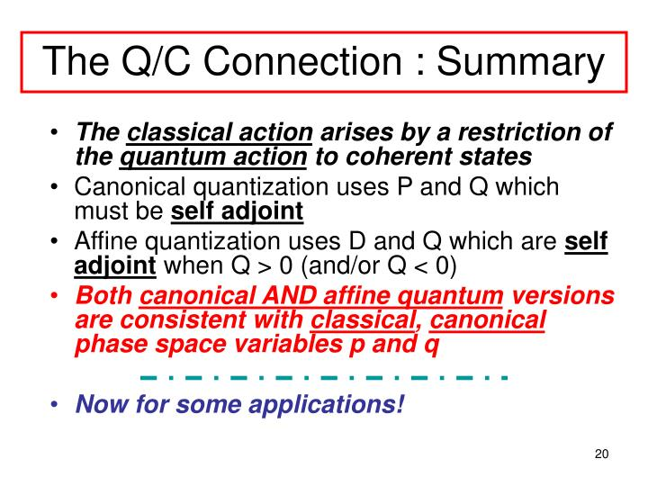 The Q/C Connection : Summary