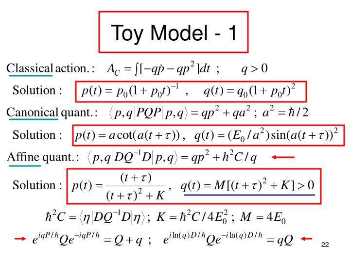 Toy Model - 1