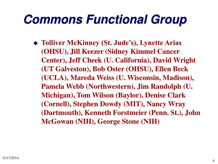 Commons Functional Group