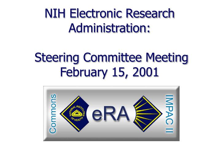 NIH Electronic Research Administration: