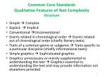 common core standards qualitative features of text complexity structure