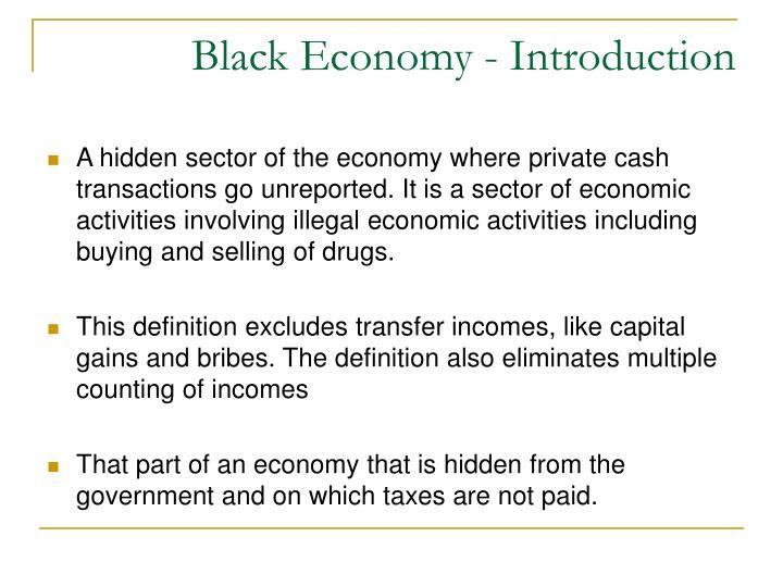 Black Economy - Introduction