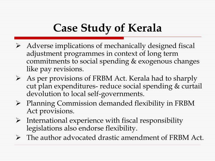 Case Study of Kerala