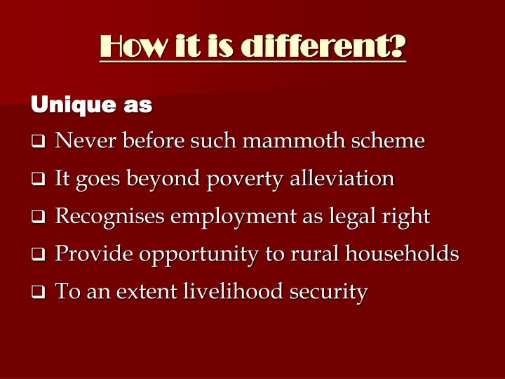 How it is different?