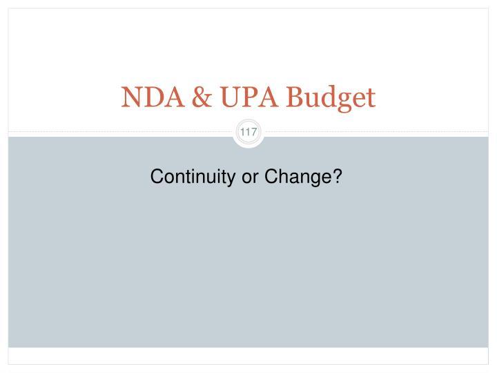NDA & UPA Budget