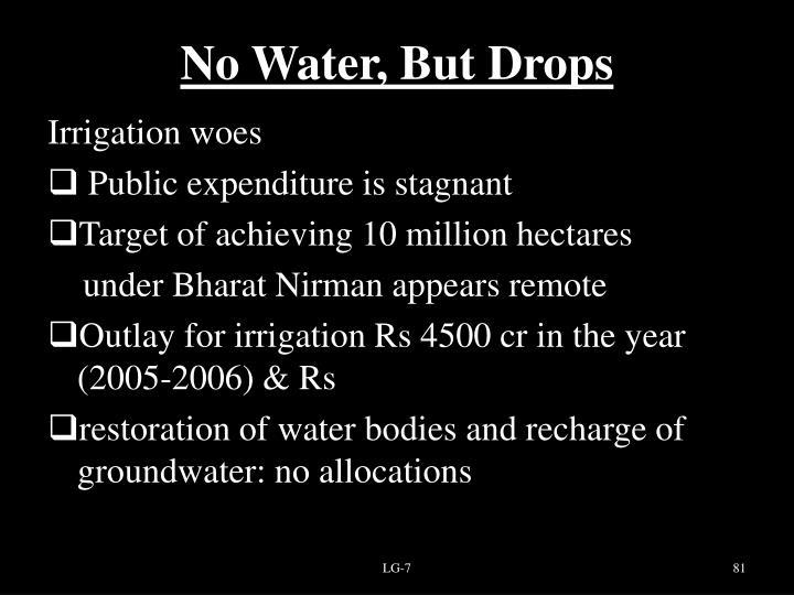 No Water, But Drops