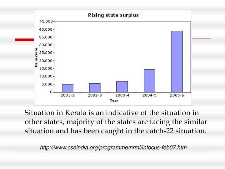 Situation in Kerala is an indicative of the situation in other states, majority of the states are facing the similar situation and has been caught in the catch-22 situation.