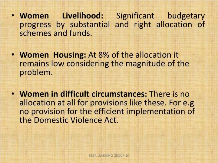 Women Livelihood: