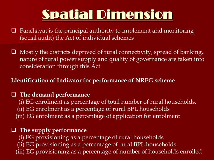 Spatial Dimension