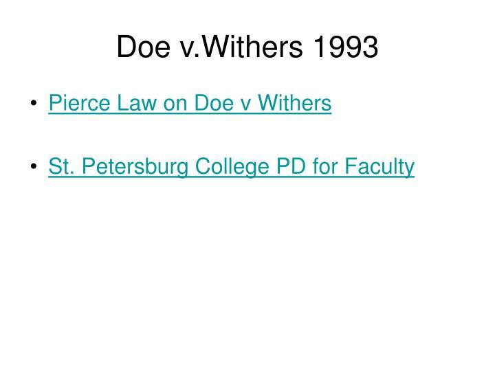 Doe v.Withers 1993