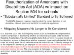 reauthorization of americans with disabilities act ada w impact on section 504 for schools2