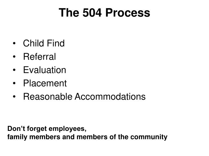 The 504 Process