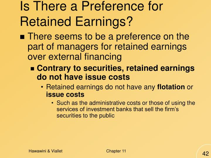 Is There a Preference for Retained Earnings