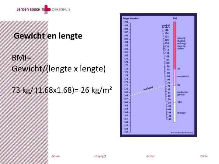 lengte gewicht kind