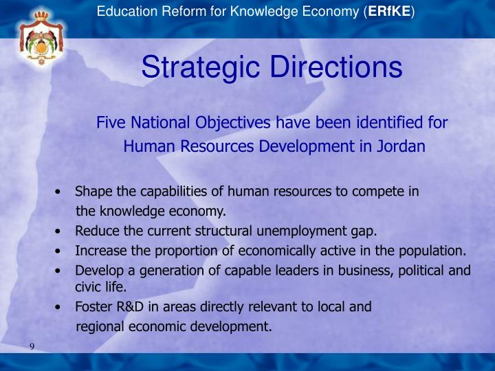 Education Reform for Knowledge Economy (