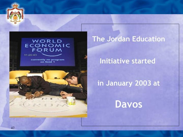 The Jordan Education Initiative started